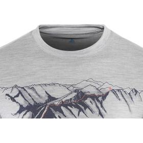 Odlo BL Alliance T-shirt manches longues à col ras-du-cou Homme, grey melange-mountain print ss19
